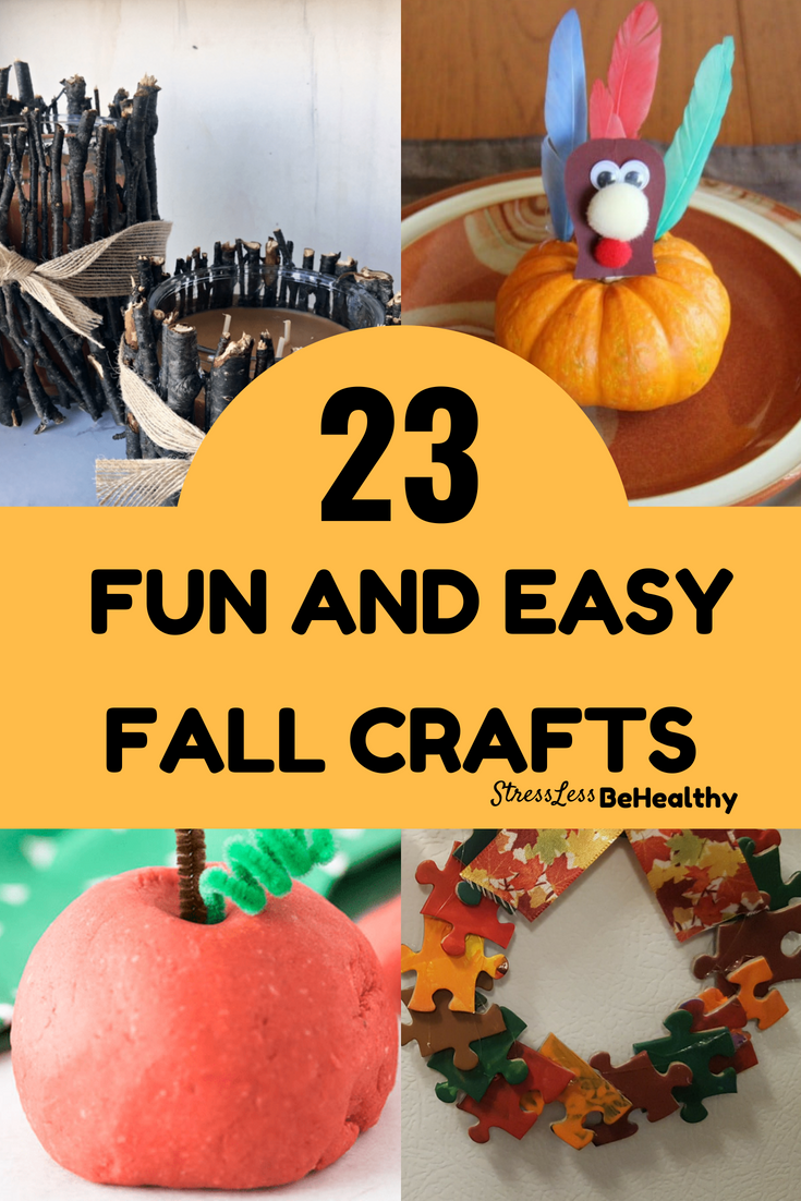 23 Easy Fall Crafts For Kids Fall Pinterest Easy Fall Crafts