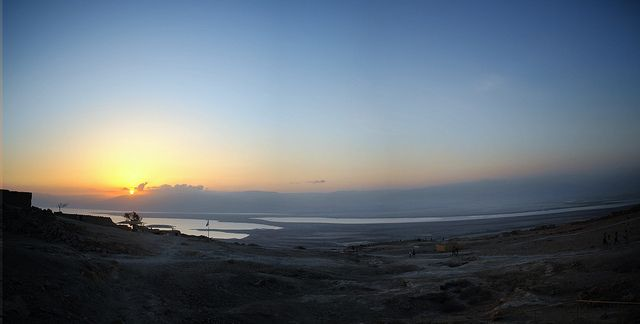 Sunrise on the Masada during the #israelonthehouse trip
