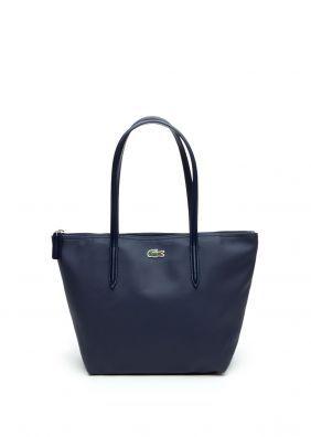 À Women Navy Main Leather Cuir Marine Femme Handbag Sac Lacoste 4L3ARq5j