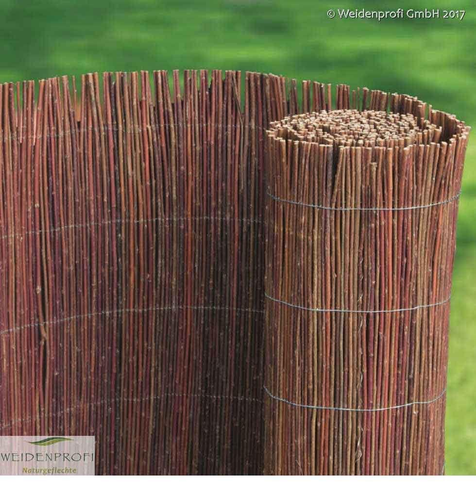Die hochwertigen Matten aus naturbelassener dunkler Weide