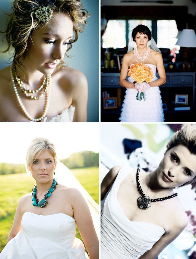 Chunky Wedding Necklaces