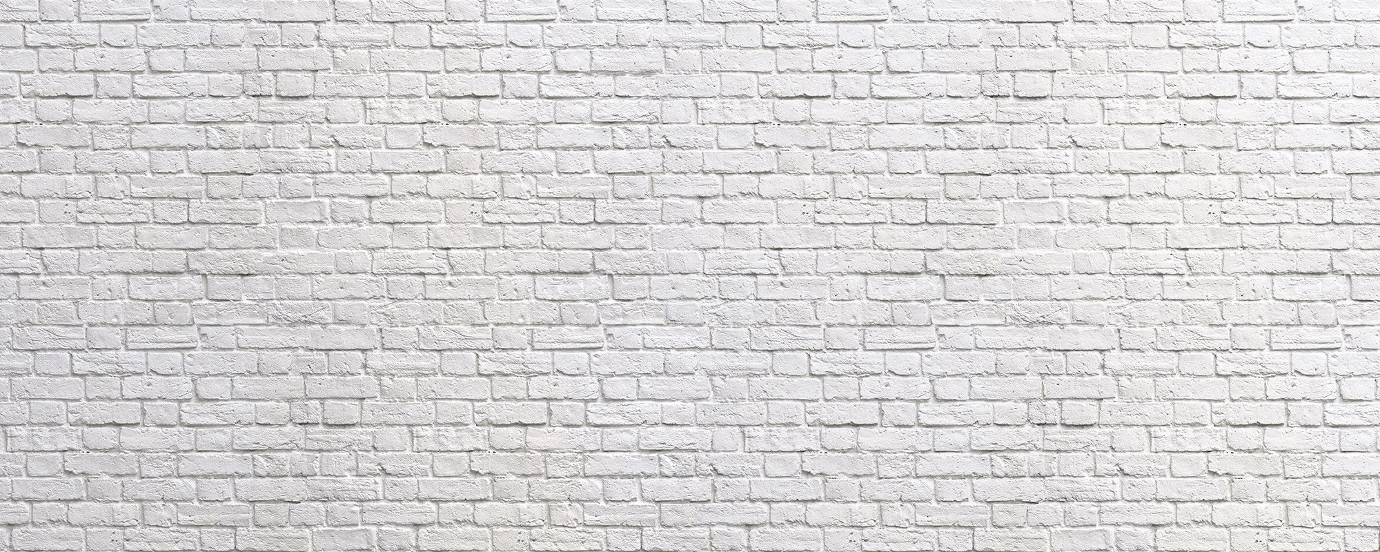 Brick Wall White Wall Mural & Wallpaper
