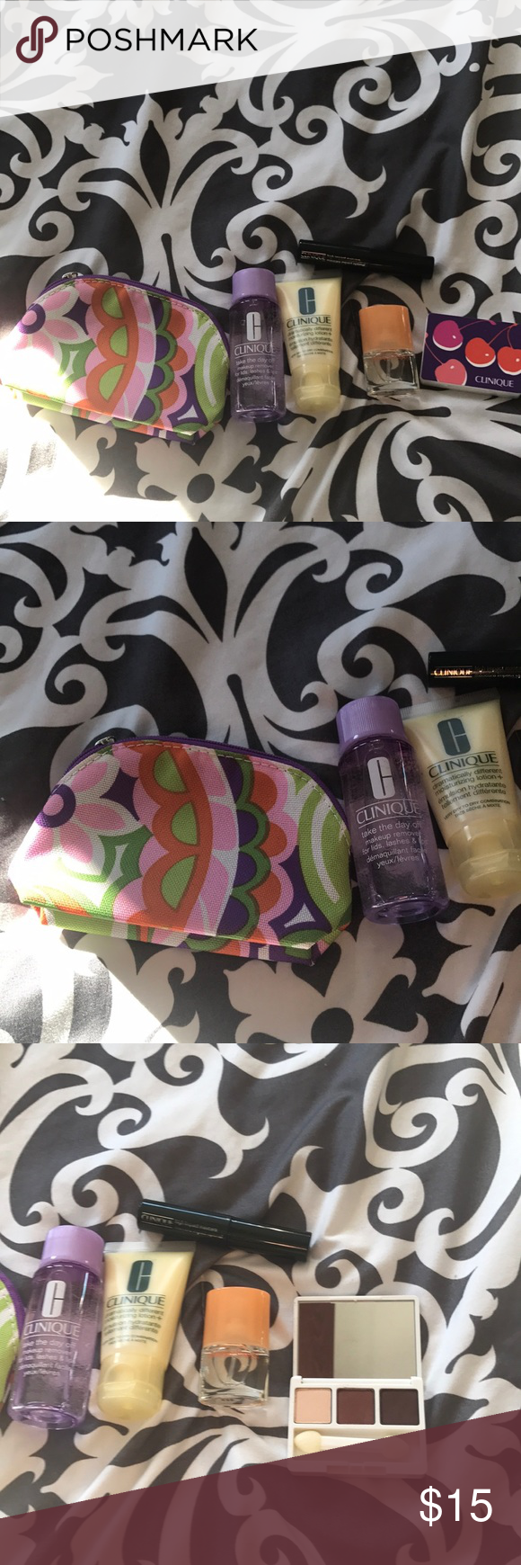 NWOT Clinique Happy perfume, Mini makeup bag, Clinique