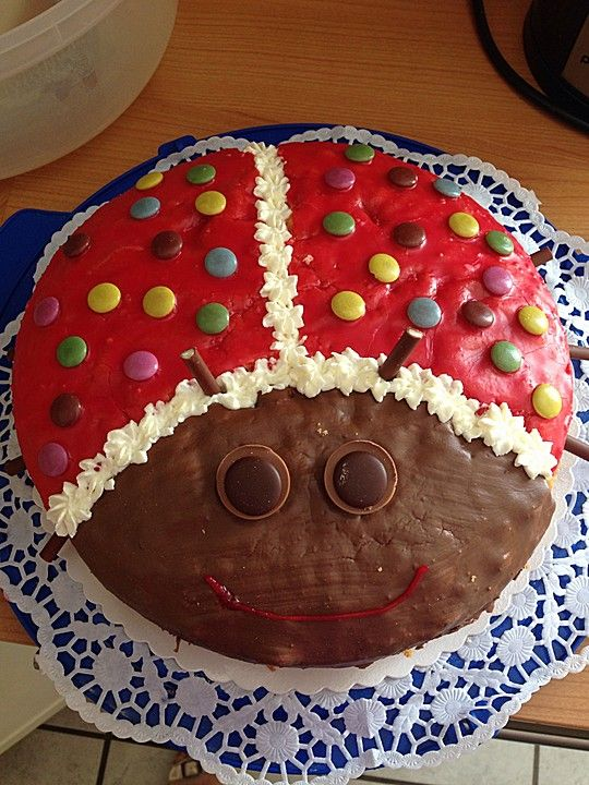 Kindertorte Marienkafer Kuchen Julian Pinterest Kindertorten
