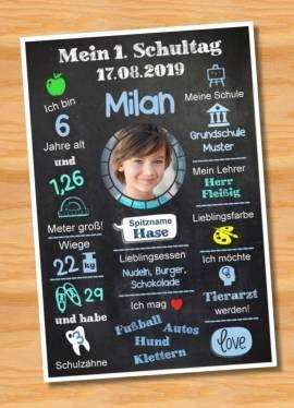 Meilenstein Poster Einschulung