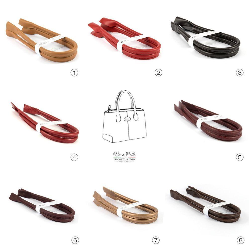 Manici in pelle per borse lungh 63 cm ricambio accessori 2 pezzi ... 316156c8de7