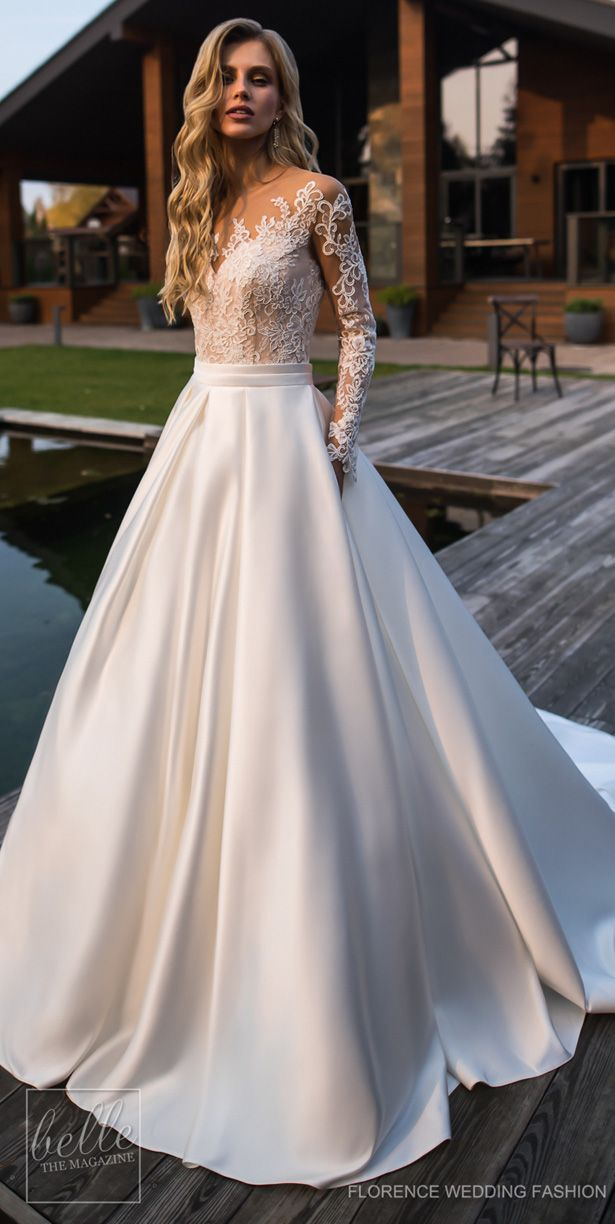 Wedding Dresses By Florence Wedding Fashion 2019 Despacito Bridal Collection Belle The Magazine Wedding Dress Long Sleeve Lace Bridal Gown Wedding Dresses