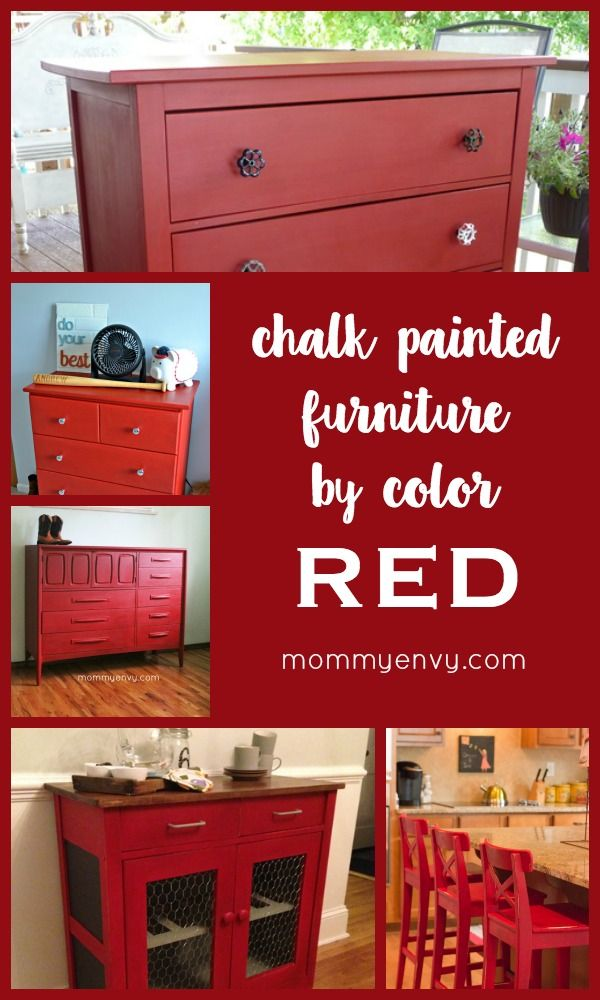 Delightful Chalk Painted Furniture By Color Series   Red Chalk Paint |  Www.mommyenvy.com