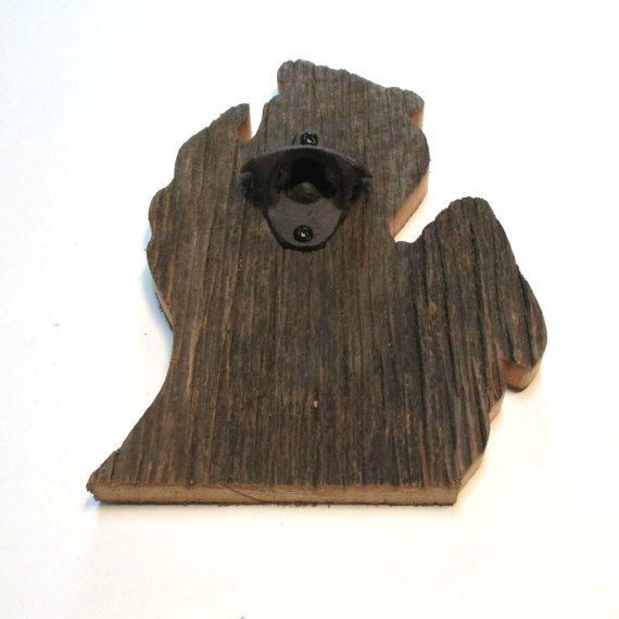 Barn Wood State Of Michigan Beer Bottle Opener Ready To Ship Ready