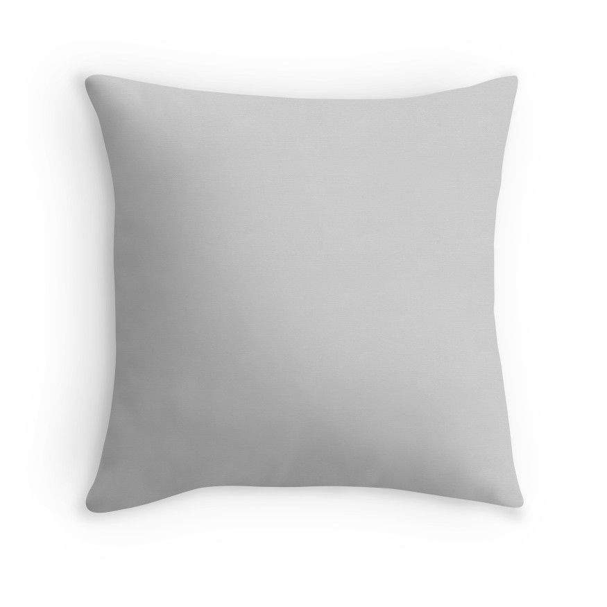 Beautiful Cushions Plain Light Grey Throw Pillow Grey Throw