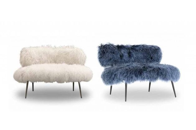 Faux Fur Furniture from Baxter by Paola Navone: Nepal | Pink and Milk