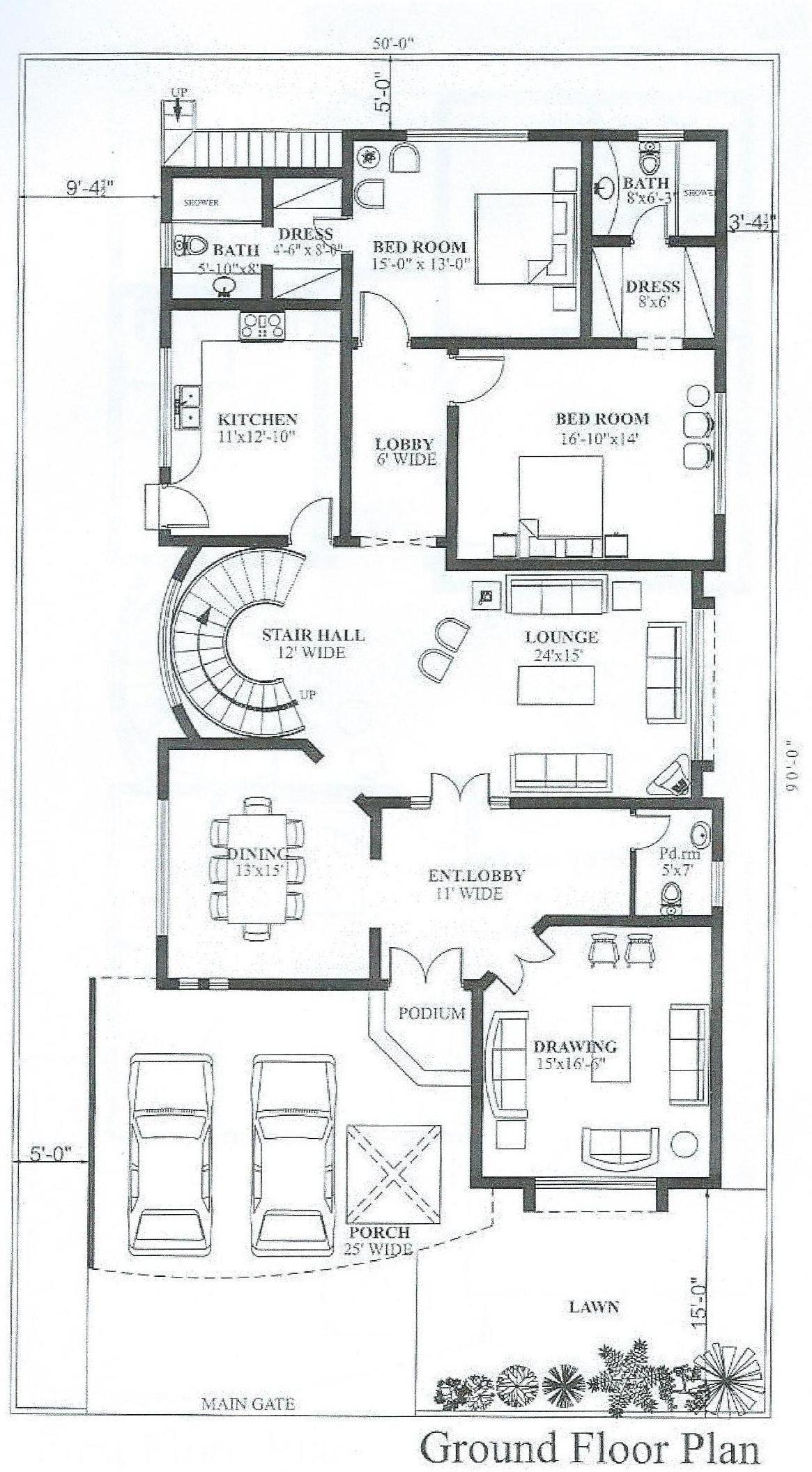 Pin By Huma Kazi On Floor Plan Free House Plans My House Plans Modern Style House Plans