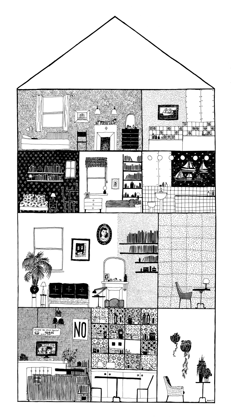 Boglio | illustration | Pinterest | Ilustraciones, Casas y Dibujo