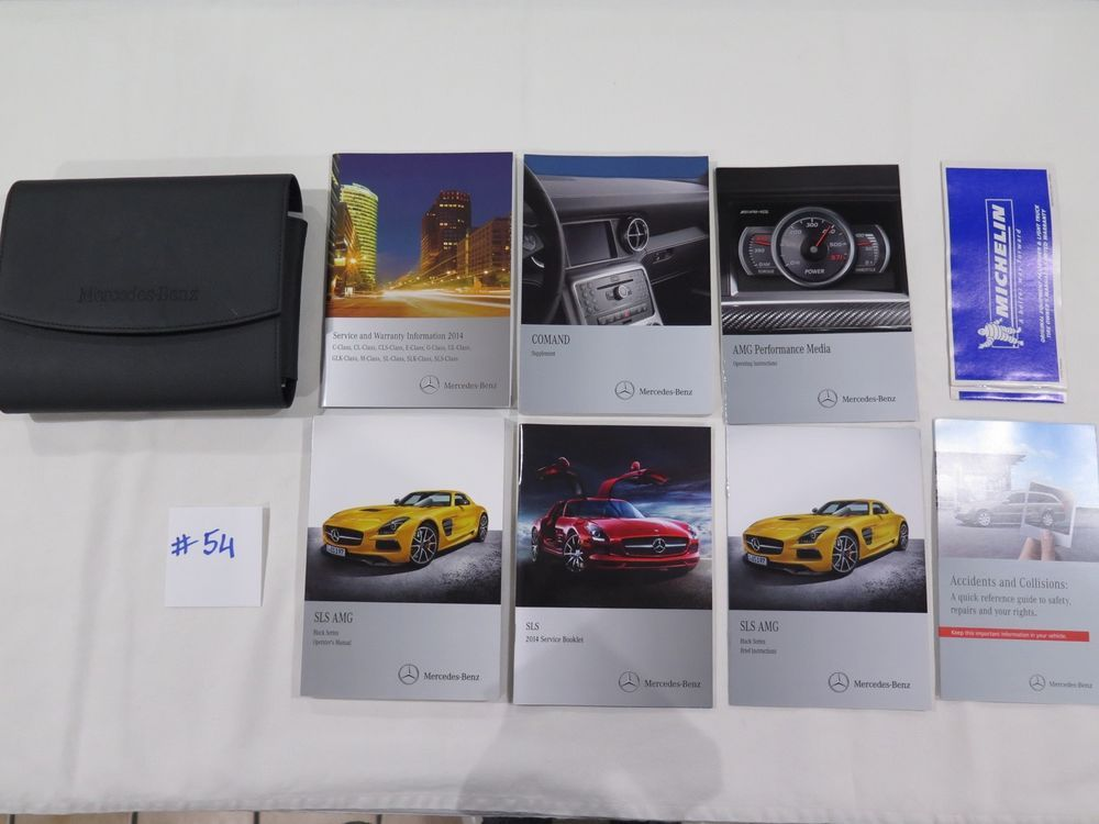 2014 Mercedes Sls Amg Owners Manuals Set With Leather Case Oem 54 Mercedes Sls Amg Owners Manuals
