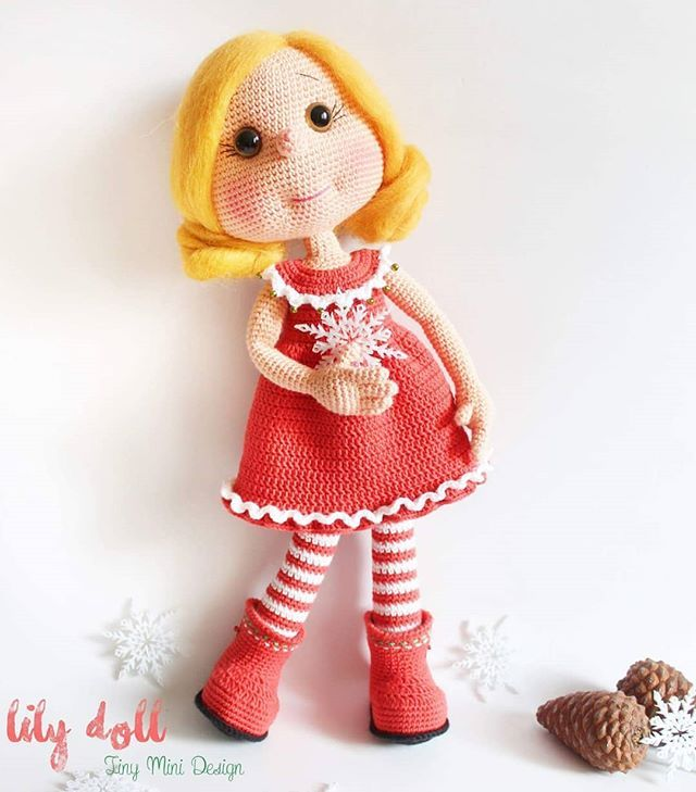 Amigurumi Tini Mini Kız Yapılışı-Free Pattern Tini Mini Dolls - Tiny Mini Design #amigurumi