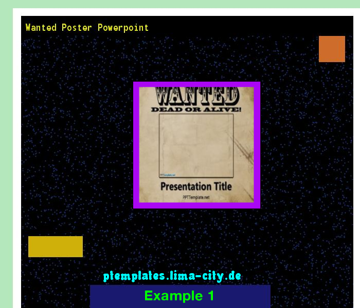 Wanted Poster Powerpoint  Powerpoint Templates 133445