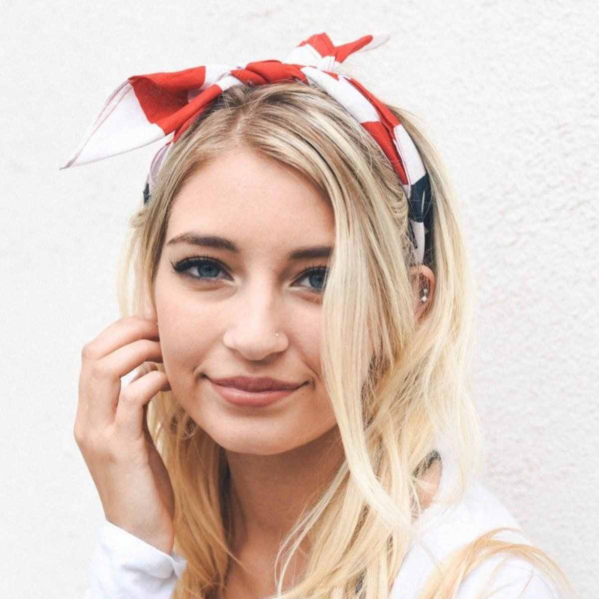 Th of July Red White and Blue Headband  Products  Pinterest