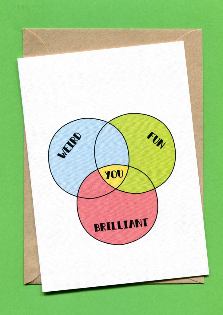 Venn diagram weird fun brilliant card art design pinterest awesome greeting cards for retail and wholesale designed and made in melbourne australia by jo power stock up on cards and stick around for creative cake m4hsunfo