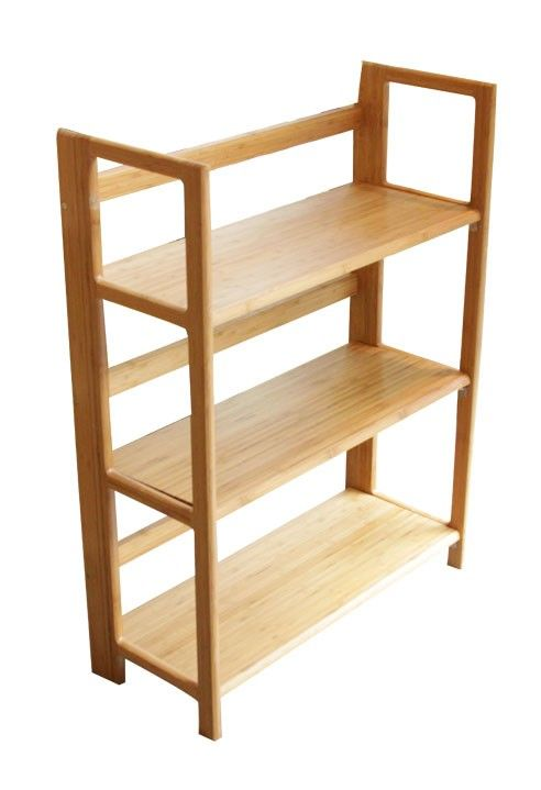 3 Tier Bamboo Stackable Folding Bookcase Available From Storables