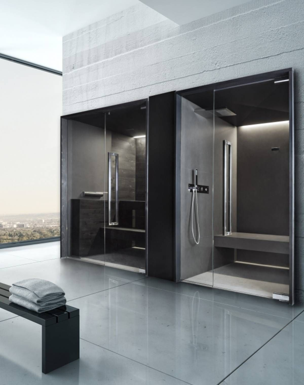 Sauna Da Casa. Great Inclui A Sauna Extremidade Oposta E A Piscina ...