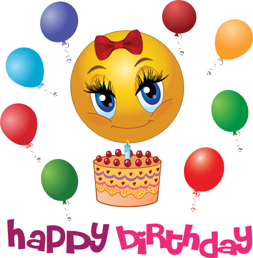 Happy Birthday Emoji Aniversario Facebook Emoticons Girls