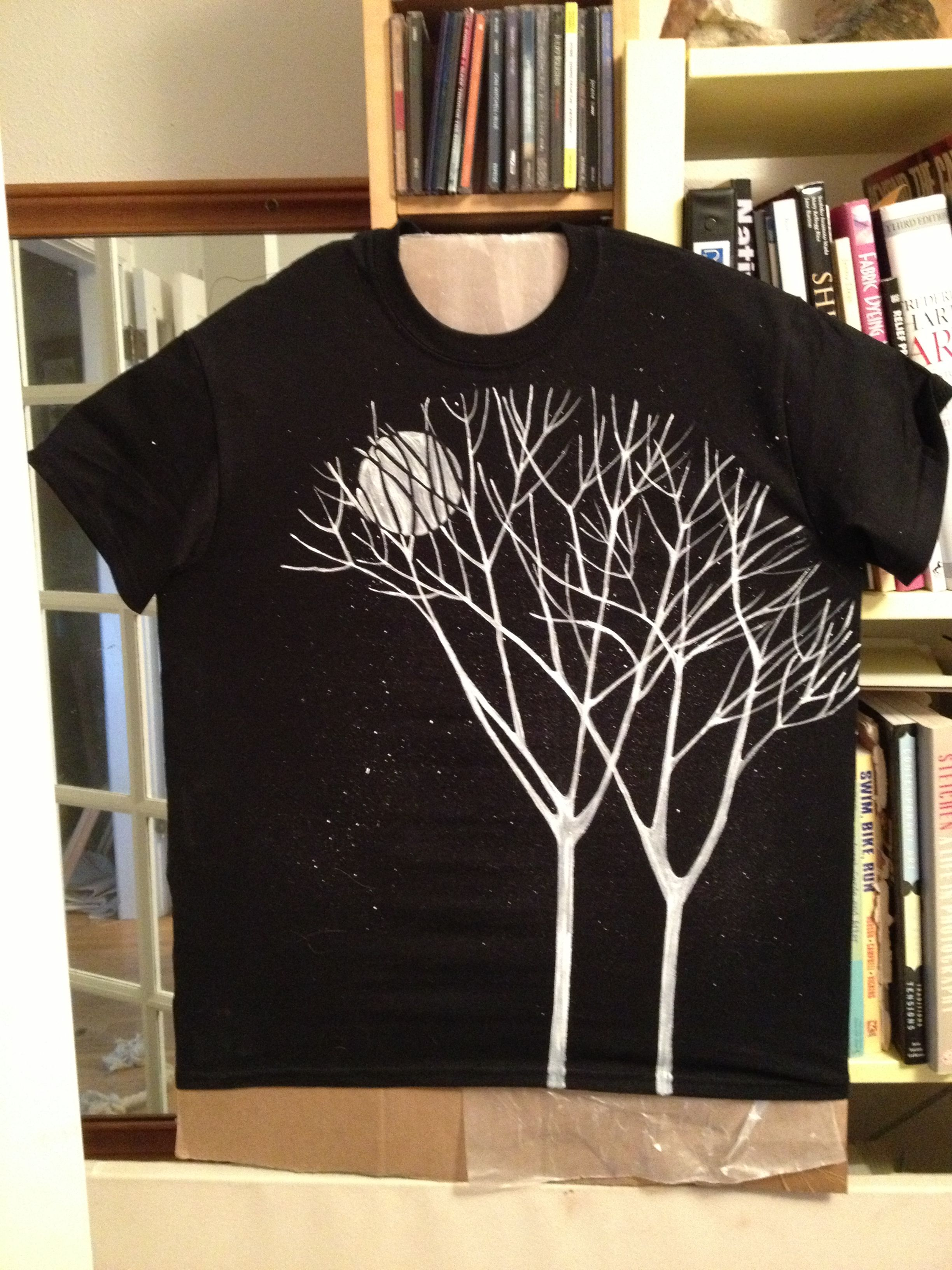Hand painted tshirt paint shirts fabric painting