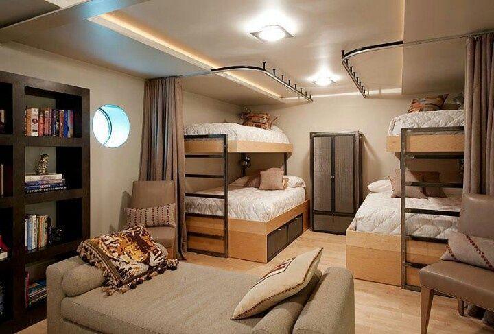 Basement bunk beds Bunk bed room Basement Pinterest