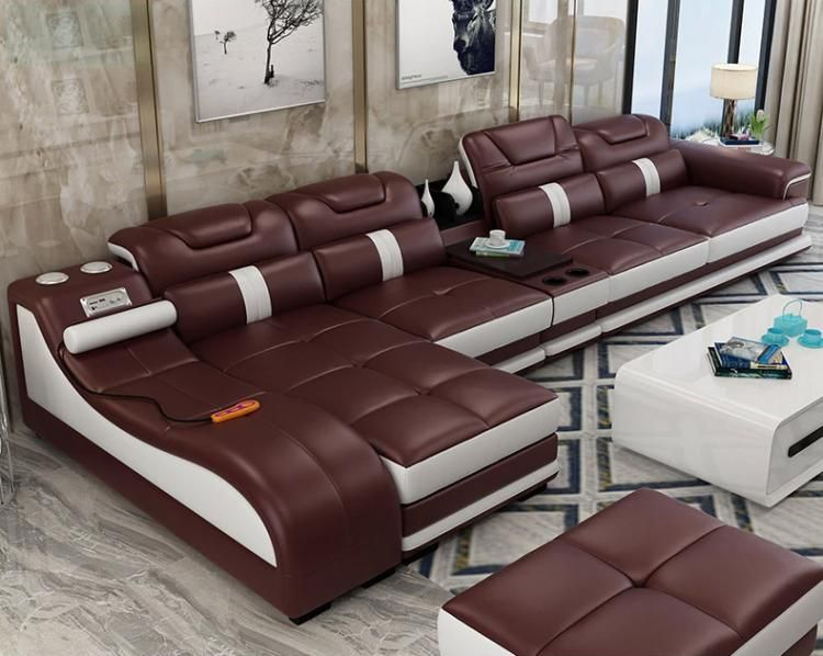Ultimate Couch Giant Leather Sectional Couch With Integrated Massage Chair Couch With Speaker Living Room Sofa Set Leather Sectional Sofas Living Room Sofa