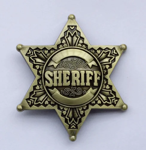 Sheriff Star Badge Set In Four Different Versions Isolated On White Background Aff Set Versions Badge Sheriff Star Star Badge Badge Cowboy Party