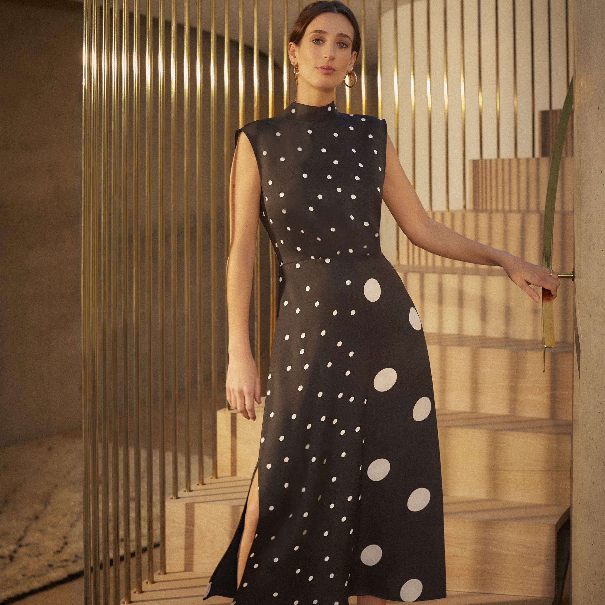 391667b60d75 Warehouse, MIXED SPOT MIDI DRESS Multi 1 | Fashion in 2019 | Dresses ...