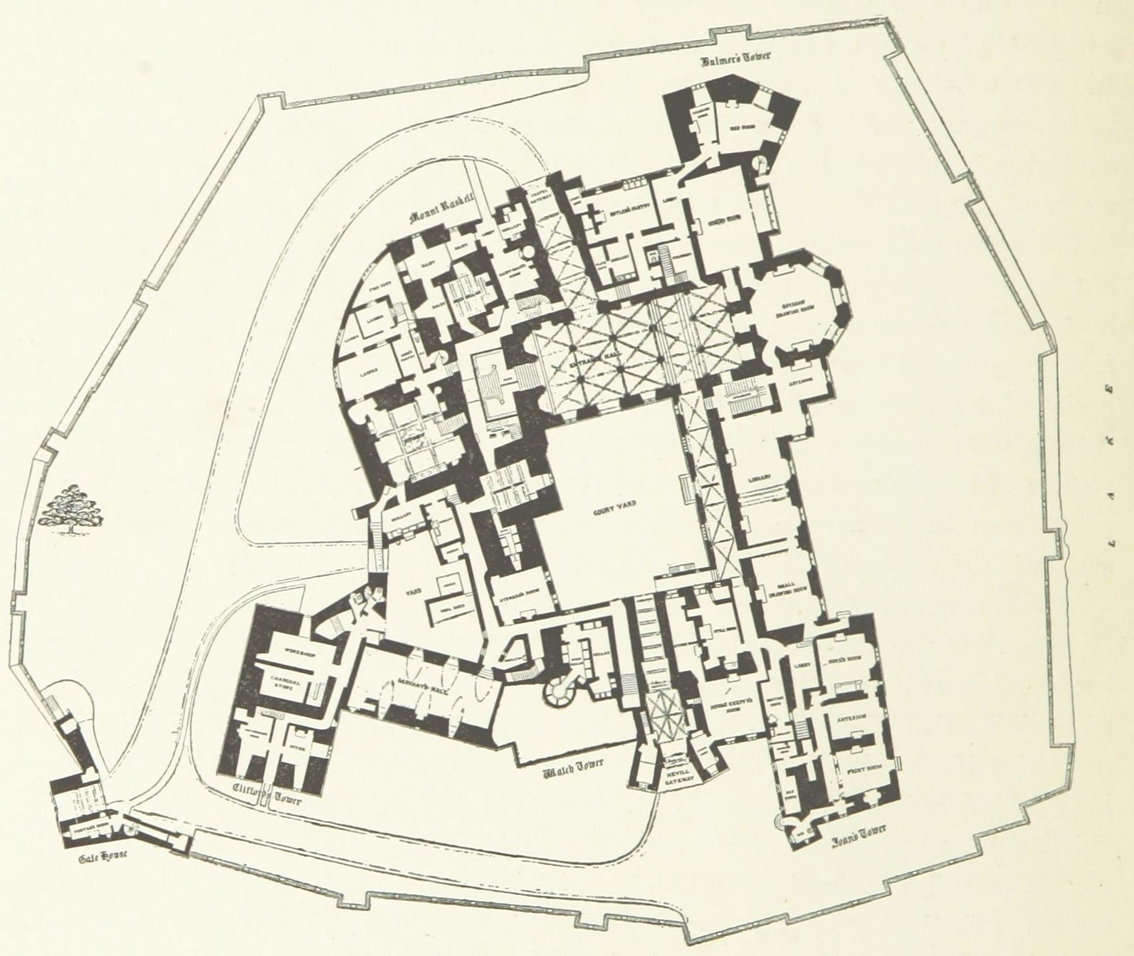 Plan Of Raby Castle 1897 Castle Floor Plan Castle Plans Castle Layout