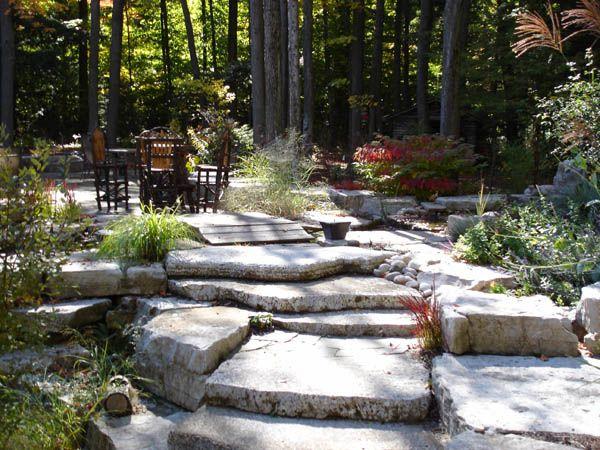 Natural Stone Landscape Steps Landscape Steps Landscape Design