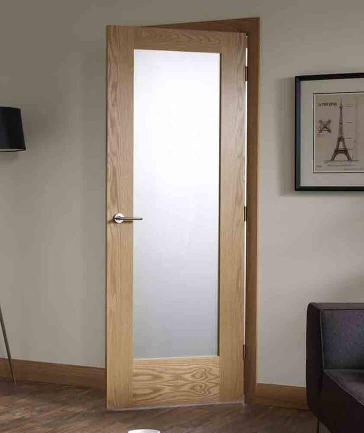 Simple Small Bathroom Frosted Door Glass Doors Interior Door Glass Inserts Glass Bathroom Door