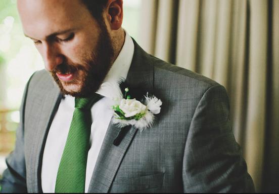 Green Tie Grey Suit Grey Tuxedo Wedding Grey Suit