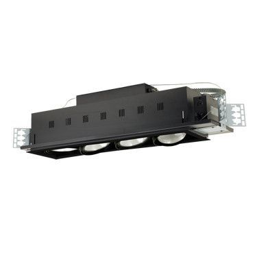 Jesco Lighting MGP38-4BB Four-Light Double Gimbal Linear Recessed Line Voltage Fixture