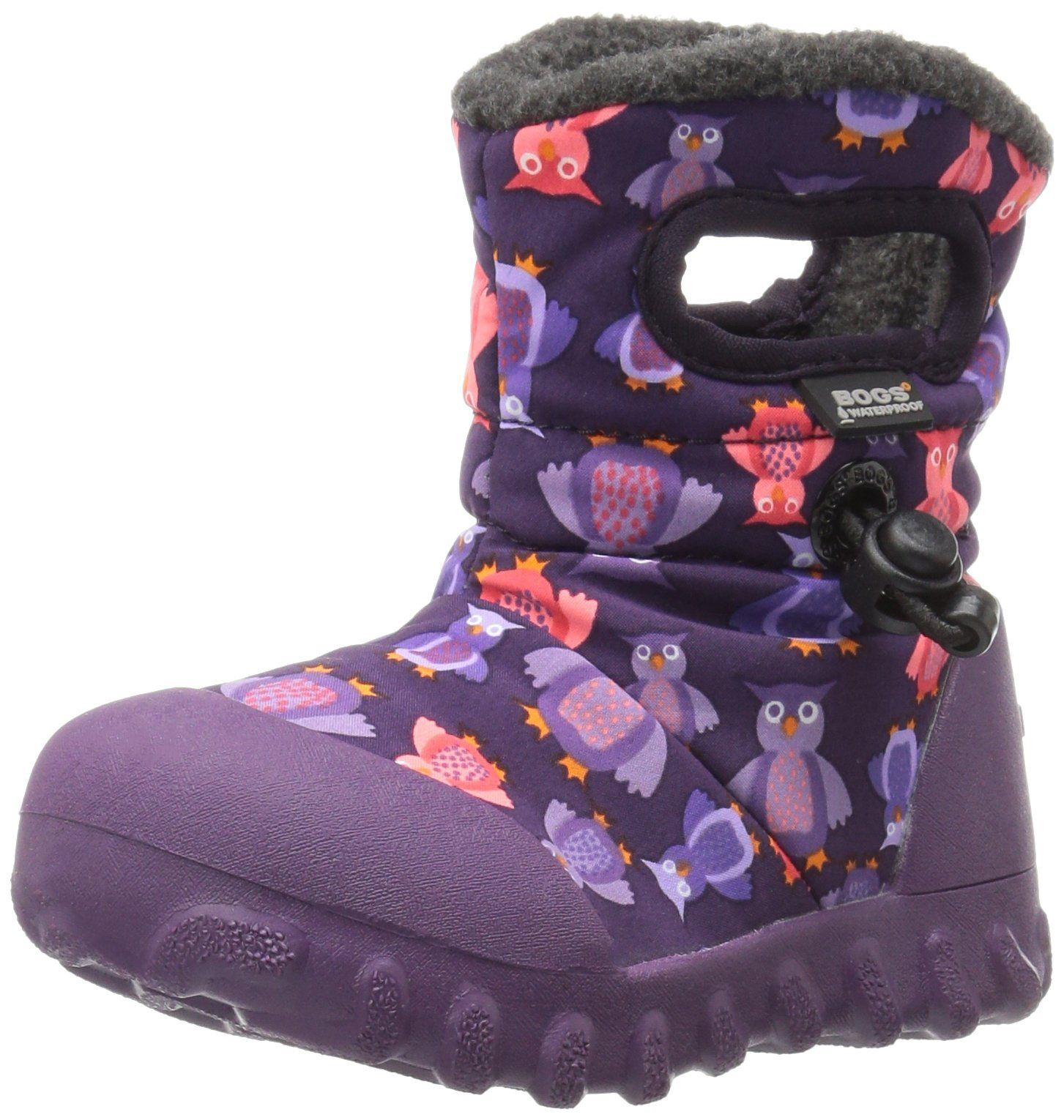 Bogs baby bmoc puff owl winter snow boot toddler purplemulti