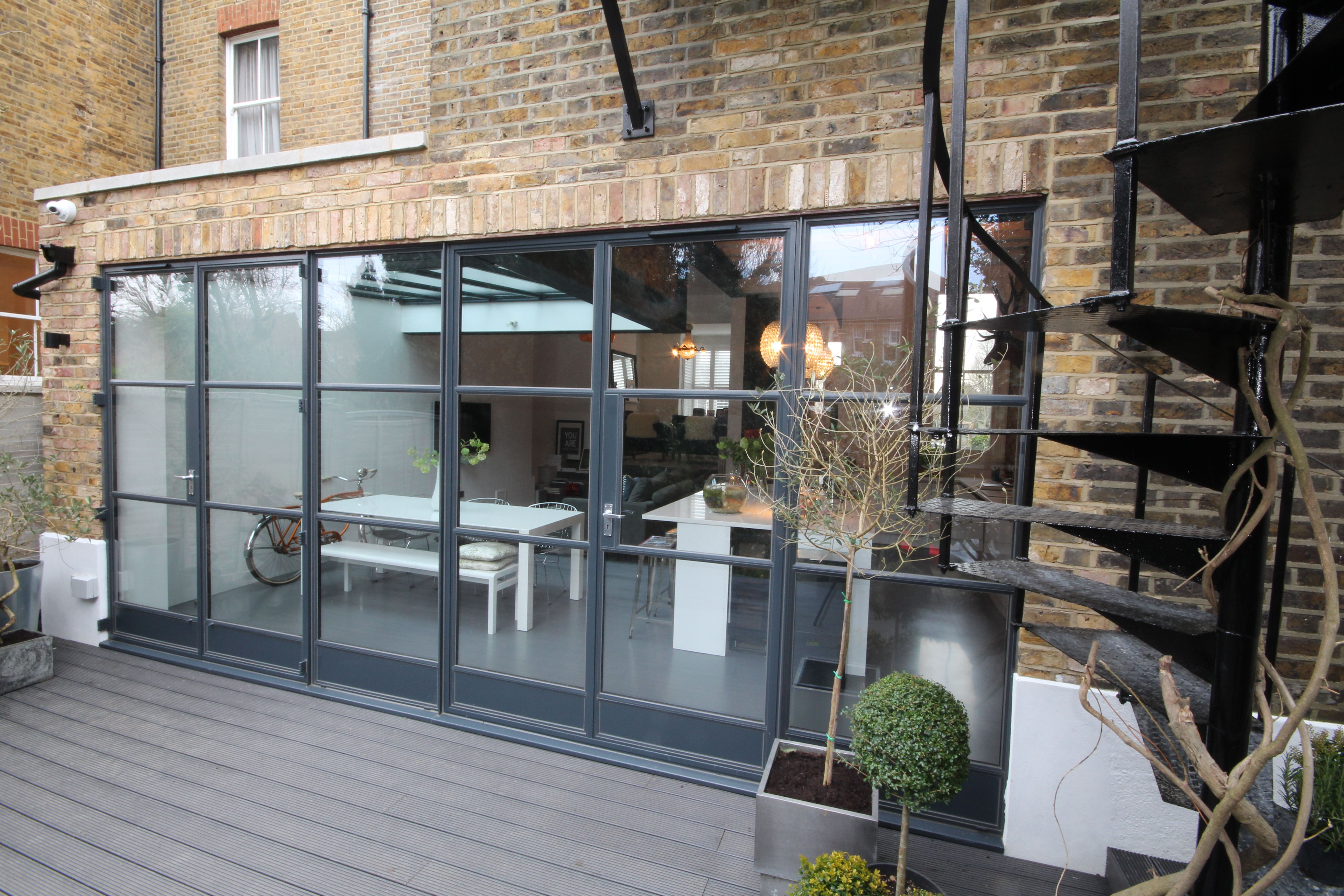 Refurbishment of a 3 storey townhouse in sw london featuring an refurbishment of a 3 storey townhouse in sw london featuring an eclectic industrial style kitchen with rubansaba