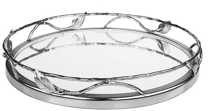 Classic Touch Round Mirror Tray With Leaf Design Reviews Serveware Dining Macy S With Images Round Mirrors Mirror Tray Leaf Design