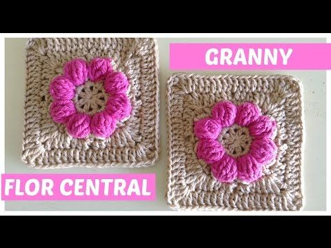 Monedero a crochet con granny square y cremallera - YouTube ...