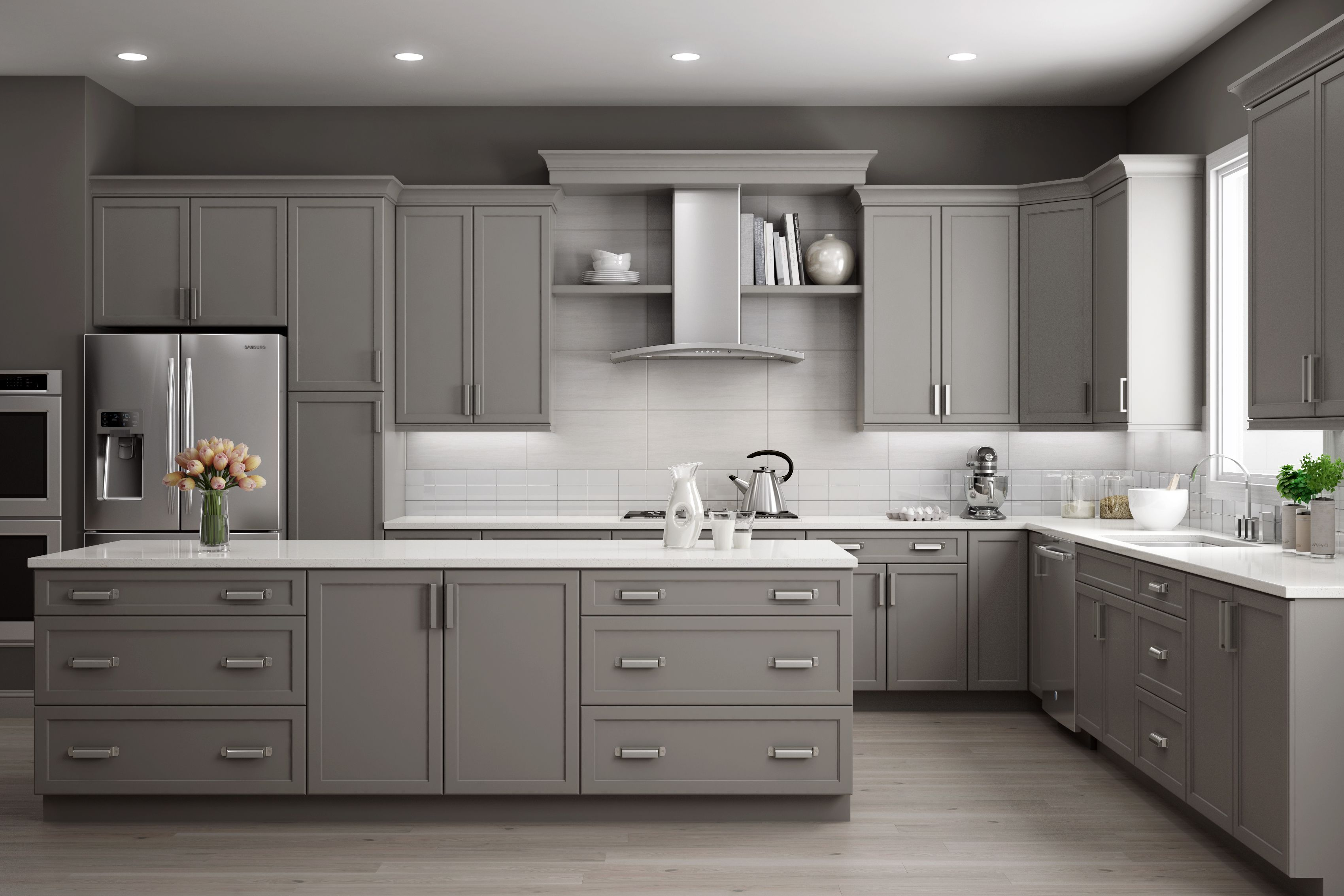 American Woodmark Pcs Professional Cabinet Solutions Designer Kitchen Cabinetry Grey Kitchen Cabinets Kitchen Cabinets Kitchen Cabinets For Sale