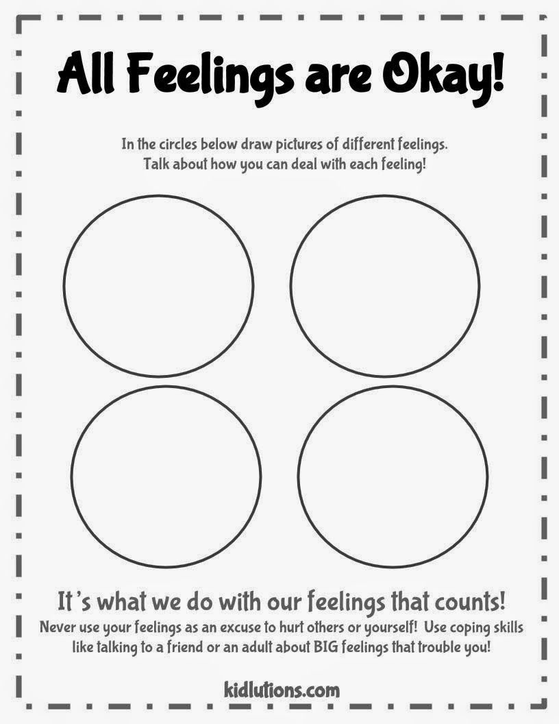 Free Printable Feelings Worksheets For Kids