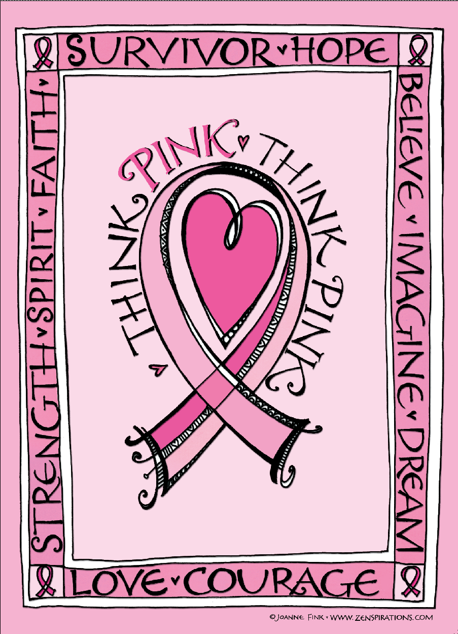 Think pink free downloadable coloring pages october pinterest