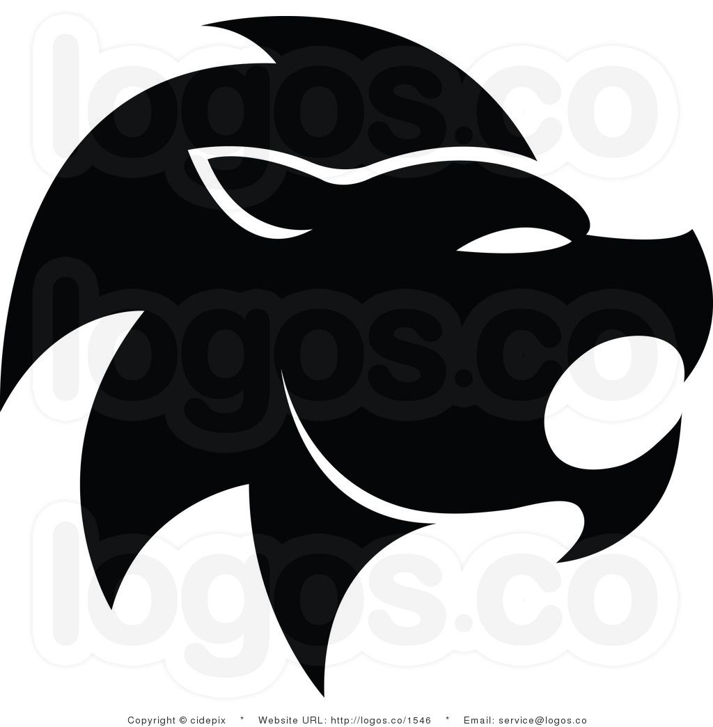 Royalty Free Vector Black and White Lion Leo Zodiac Logo by ...