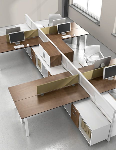 M2's space-efficient shapes and storage-supported surfaces allow  workstations to expand and contract