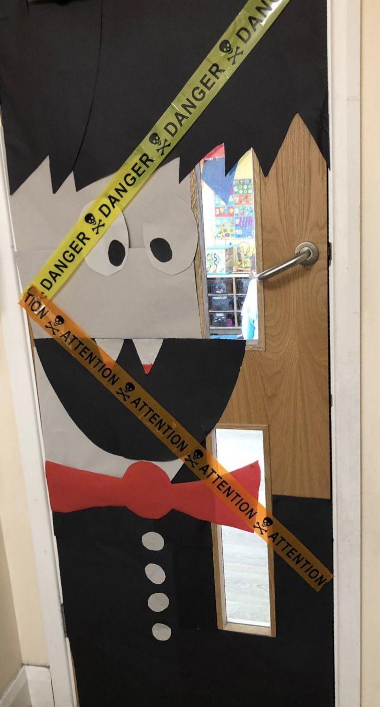 Halloween classroom door  #halloweenclassroomdoor