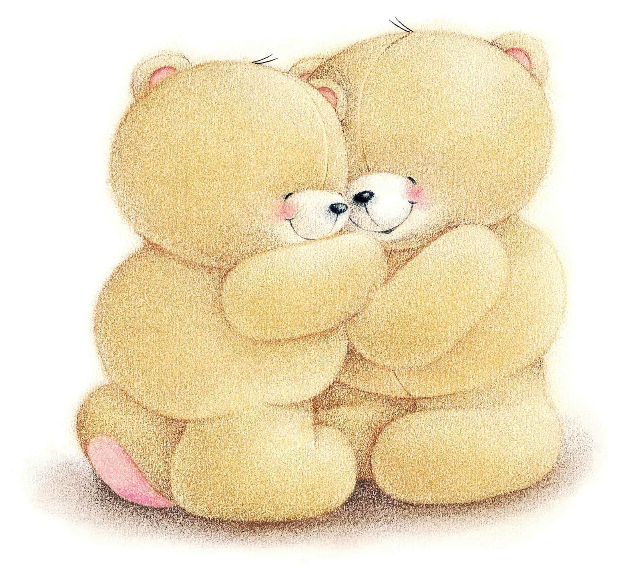 обнимающиеся медвежата картинки примеру