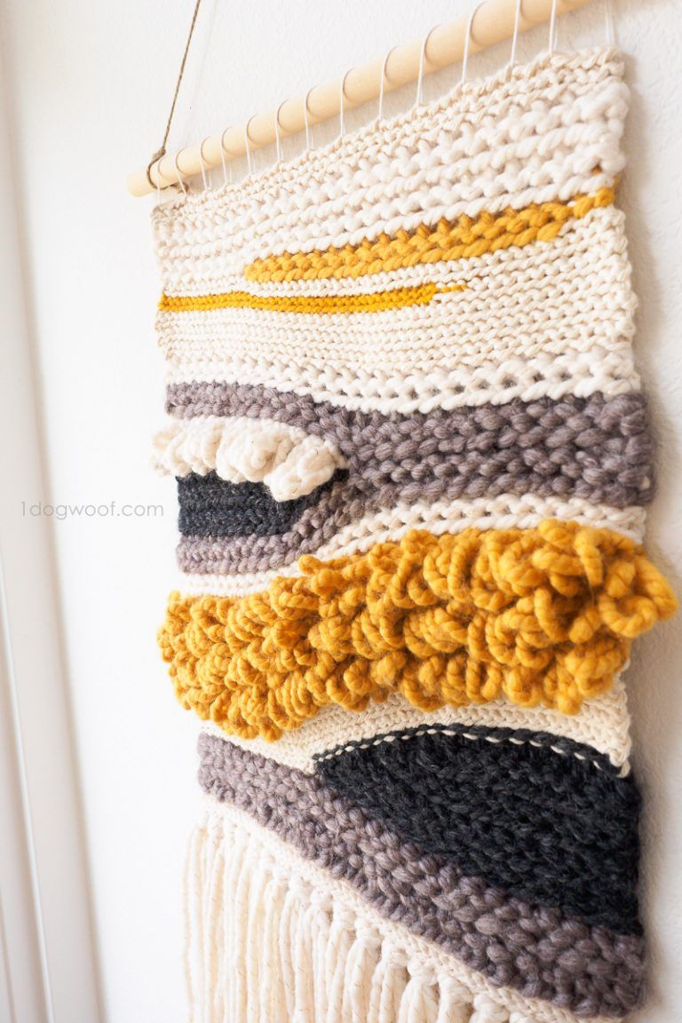 How To Make Your Own Woven Crochet Wall Hanging Diy Crochet Wall
