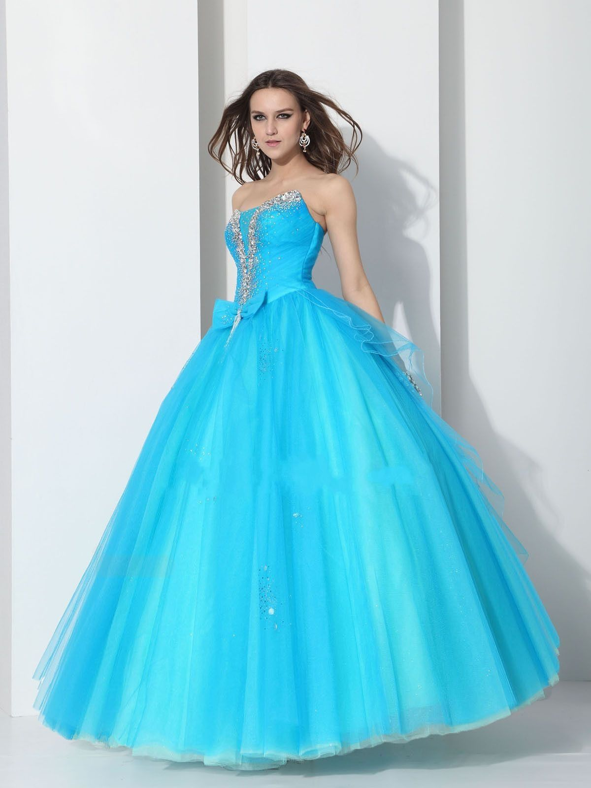 Tulle Ball Gown Beading Prom Dress for Ladies | Prom Dresses ...