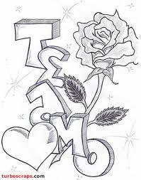Desenhos Romanticos Desenhos Romanticos Letra De Grafitti