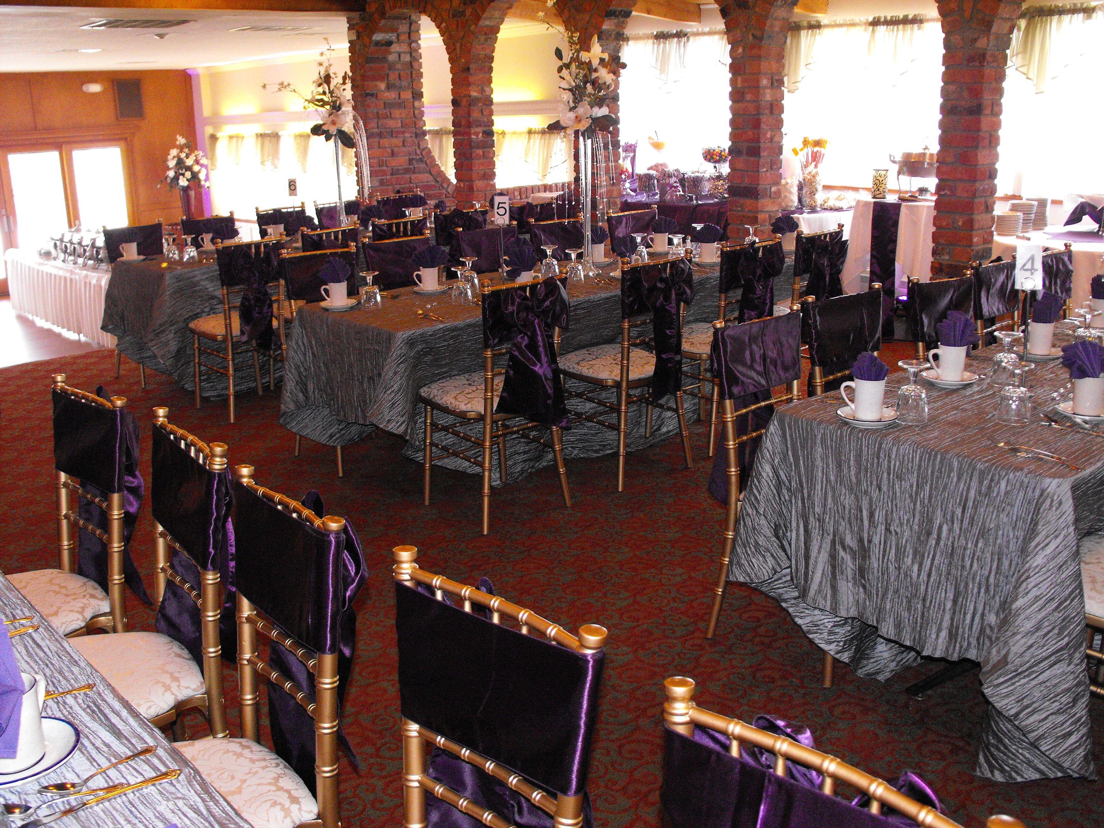 Dramatic Purple And Grey Wedding Love La Galleria Venue Buffalo Ny
